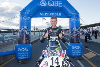 Allerton seals second ASBK Superpole of 2013 at Queensland Raceway