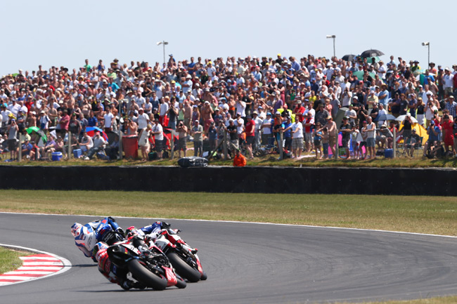 Good weather brought huge crowds out to the Norfolk circuit.