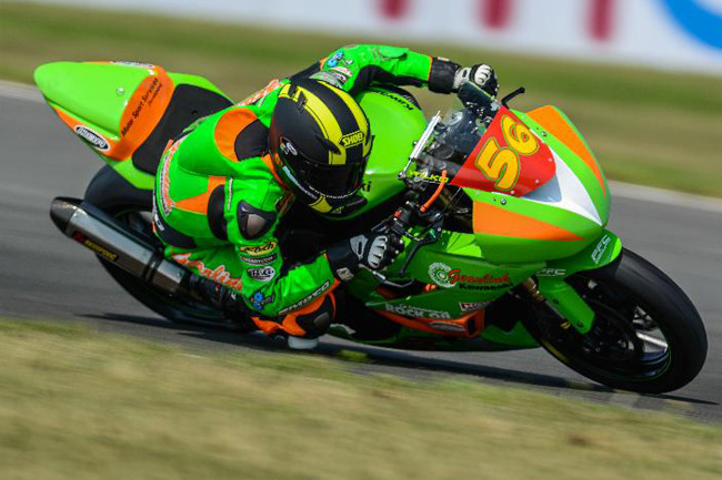 Australia's Mark Wilkinson finished a credible sixth in the Superstock 600 race.