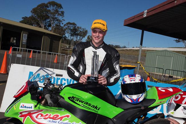Kawasaki's Matt Walters won all six Prostock races at Sydney Motorsport Park. Image: Andrew Gosling/TBG Sport.