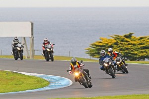 BMW Motorrad RR Experience a track stopper