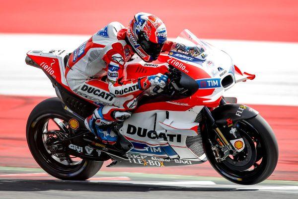 Stoner inside top three at Austrian test despite late crash
