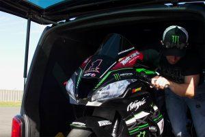Viral: Rea rides track day Ninja ZX-10R