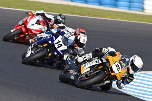 Falzon fends off Allerton for opening ASBK race victory
