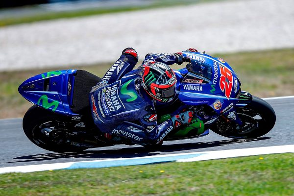 Viñales ups pace on Thursday at Phillip Island MotoGP test