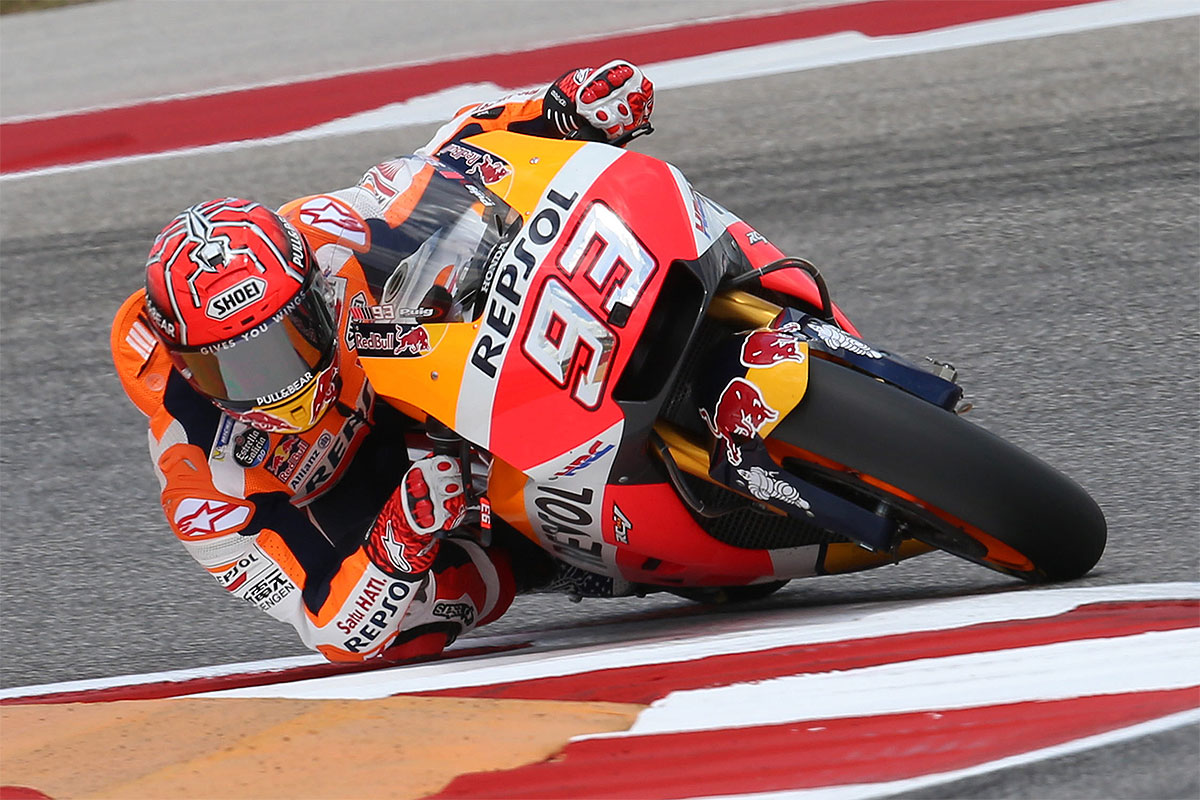 Marquez sets MotoGP pace on Friday in Texas - CycleOnline ...