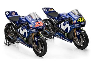 Movistar Yamaha team unveils revised 2018 livery