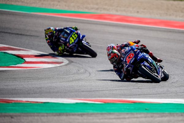 Aragon lead up draws mixed opinions from Movistar Yamaha duo