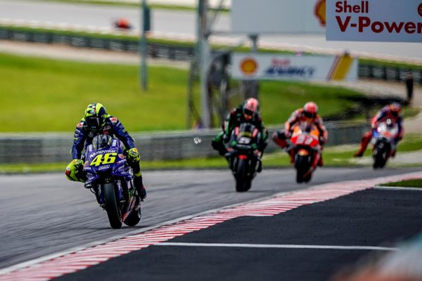 Sepang a positive weekend for Rossi despite crashing out of lead