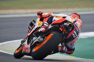 Marquez on Le Mans MotoGP pole as Miller scores front row