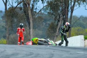 Buckley injured in unavoidable race two crash at Winton