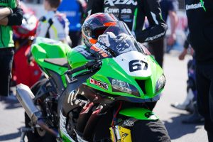 Staring still believing in Dunlop and Kawasaki BCperformance package