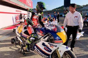 Piloting Honda NSR500 'spectacular' declares Crutchlow