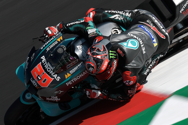 Yamaha take top three spots on Friday at Misano
